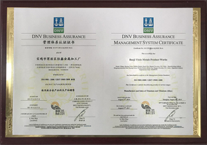 DNV management system certification