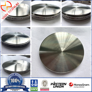 ASTM F136 GR23(Ti-6Al-4V-ELI) Titanium Target for Medical Use.